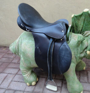 GRIFFITH'S HORSE SADDLE w/REINS, BITS, BRIDLES, STIRRUPS & MORE