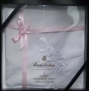 LADY'S Embroidered Handkerchiefs by BROOKS BROTHERS
