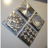 Modern Abstract Silver Metal Wall Art Original Home Decor Sculptures Jon Allen