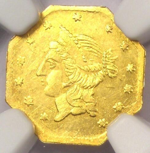 1855 Liberty California Gold Dollar G$1 BG-533 - NGC Uncirculated Dets (UNC MS)