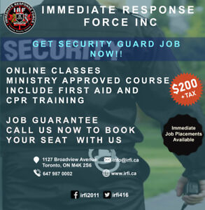 Immediate Response Force Inc.   Security guard Training Agency