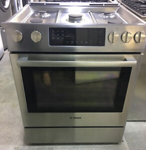 """30"""" convection gas Stove $2599 Bosch stainlessSteel ham as"""
