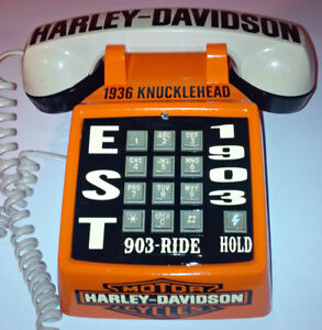 VINTAGE CUSTOM 1 OF A KIND HARLEY DAVIDSON PUSH BUTTON  PHONE