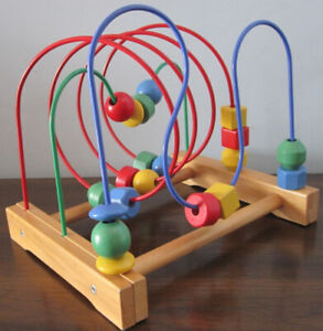 Wooden Bead Roller Coaster Toy