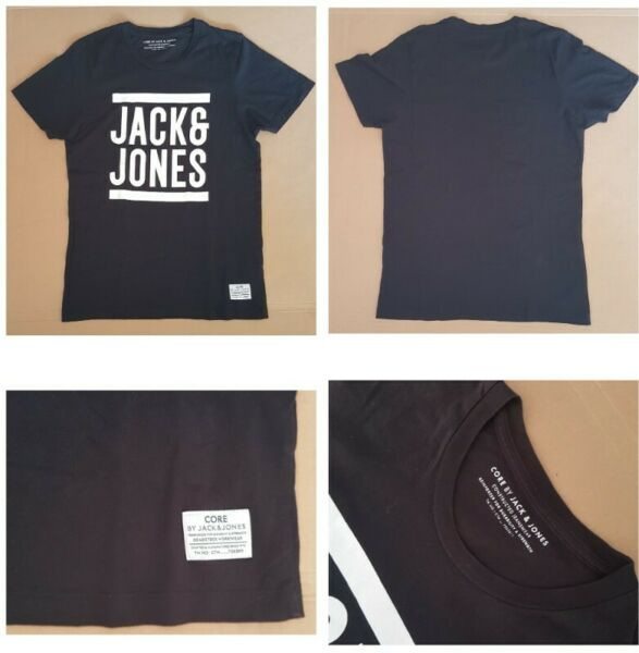 Jack & Jones Top, Versatile Black T-Shirt, Exquisite Jack & Jones Print, Yuppie Fashion, Denmark