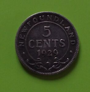 Newfoundland 5 Cent Silver....five mint dates