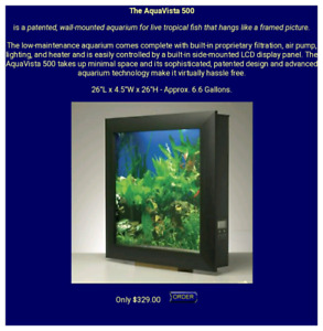 Wall hanging fish tank , looks like photo $150 or trade