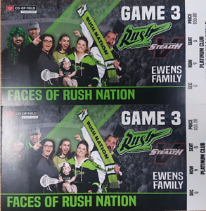 Rush v Vancouver Stealth 2 tickets lower bowl Feb 3