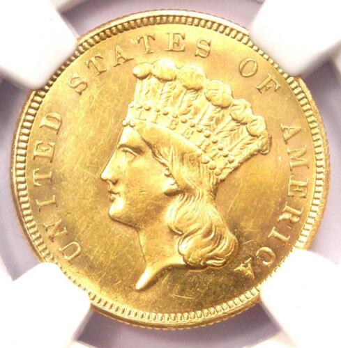 1879 Three Dollar Indian Gold Coin $3 - NGC Uncirculated Detail (UNC BU) - Rare!
