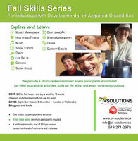 Fall Skill Series for Individuals with Developmental Disabilties