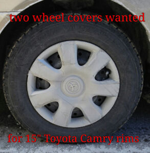 "two 7 spoke wheel covers for 15"" Camry rims WANTED"