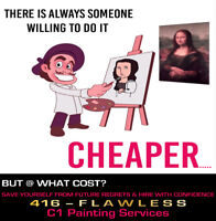 Premium Quality Painting Services @ a Fair Price….☏ 416-FLAWLESS