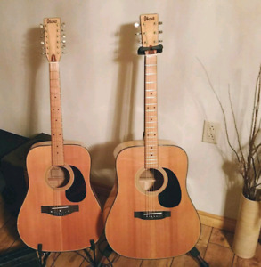 Vintage Ibanez concord 6 and 12 string pair