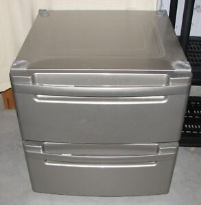 Gray Laundry Storage Pedestals