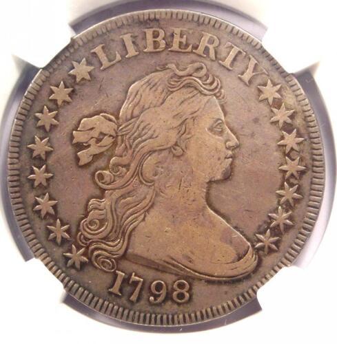 1798 SMALL Eagle Draped Bust Silver Dollar $1 - NGC VF Details - Rare Variety!
