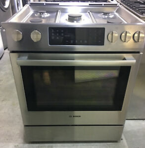 """Bosch 30"""" convection gas stainless Steel range PRICE $2599"""
