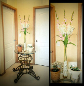 Gorgeously Sweet!  TALL Flower Arrangement with Tall Glass Vase