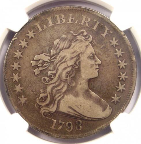 1798 Draped Bust Silver Dollar $1 Coin BB-113 B-27 - NGC VF Details - Near XF!