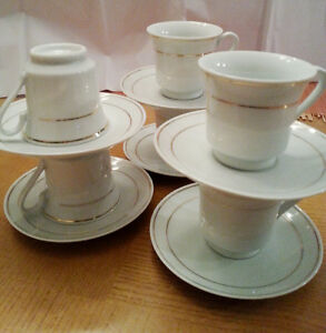 NEW - Turkish Coffee Cups with Spoons, Set of 6