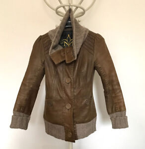 Leather Mackage jacket xs brown