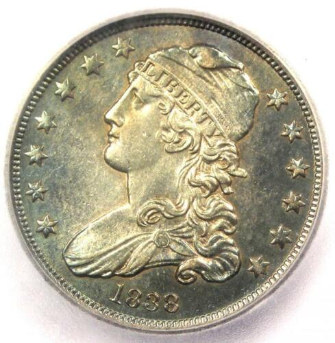 1838 Capped Bust Quarter 25C Coin - Certified ICG MS62 (BU UNC) - $2,940 Value!