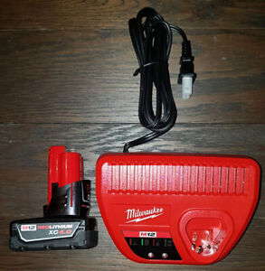 Brand New Milwaukee m12 4.0ah battery and charger