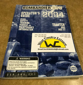 BOMBARDIER 04 TRAXTER OWNERS MANUAL