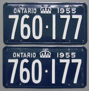 Classic Car YOM License Plates - Ministry Approval Guaranteed! Belleville Belleville Area image 6