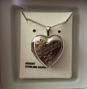 NEW Sterling Silver Locket and chain