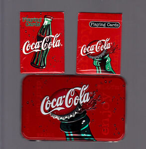 COCA-COLA-COLLECTOR TIN PLAYING CARD SET - SEALED