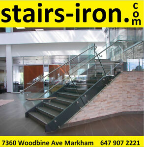 Toronto Stainless Steel Glass Stairs Railing ,Parts & Service