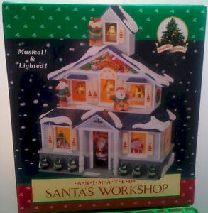 ***Christmas Santa's Animated Workshop–Musical & Lighted – NIB**