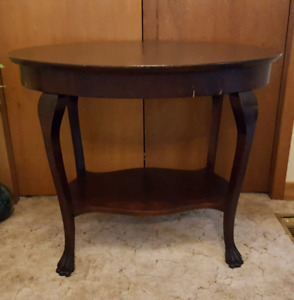 Antique Clawfoot Oval Table
