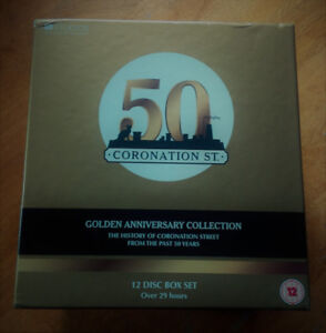12 Disc DVD Boxed Coronation Street - 50 Yrs Golden Anniversary