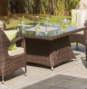 Wicker Propane/Natural Gas Fire Pit Table