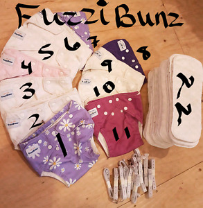 NEW PRICE for FuzziBunz Cloth Diapers