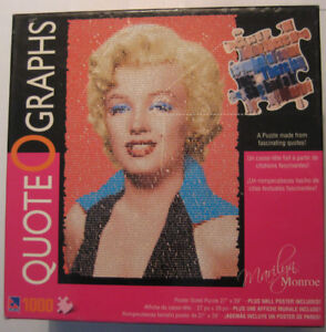 Marilyn Monroe 1000 Piece Quote O Graphs Puzzle - New