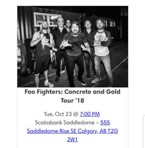 Foo Fighters Concert Tickets for Calgary