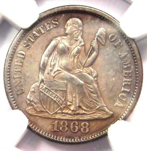 1868-S Seated Liberty Dime 10C - NGC Uncirculated Details (UNC MS) - Rare Date!