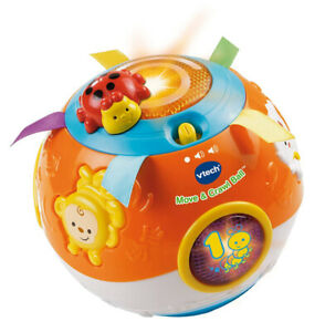 Used VTech Move and Crawl Baby Ball, Orange, great working