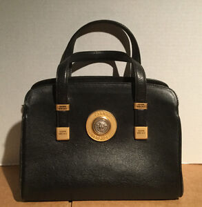 Versace Black Leather Women Handbag