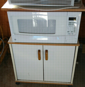 GE microwave and stand