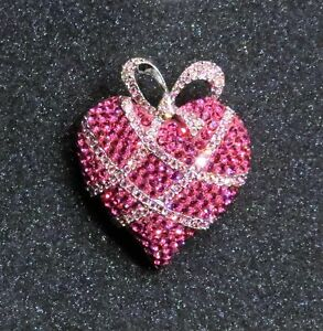 Swavorski Pink Crystal Broach Wrapped in Love 2004 Edition
