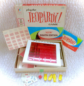 Vintage 1964 Jeopardy Board Game Near Complete