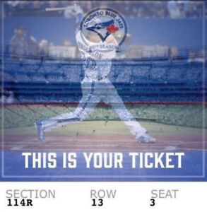 Blue jays vs Indians May 9th field level seats