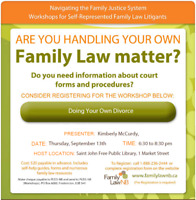 Doing Your Own Divorce - Family Law Workshop