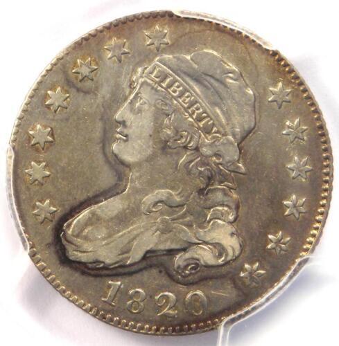 1820 Capped Bust Quarter 25C Coin B-5 R5 - PCGS VF Details - Rarity-5 Variety!