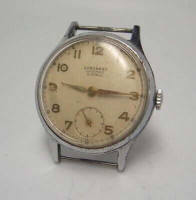 1950's Vintage Junghans military type Watch wristwatch W 44
