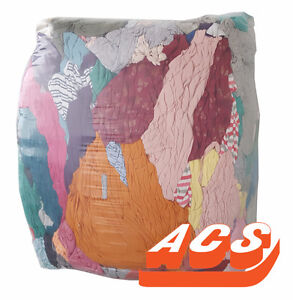 25 lbs Bag of Shop Rags - Colored and White Available
