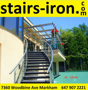 Stainless Steel Stairs Stringers.Showroom.consultation